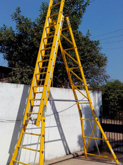 Self-Supported Extension Total FRP Ladder with Platform