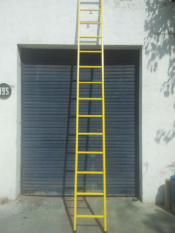 Wall Supported Total FRP Ladder
